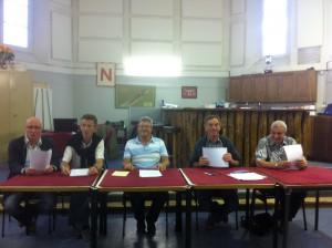 De gauche à droite : Philippe DEMAZEUX, Jean AUTRET, Patrick BILLEY, Roger LANGLOIS, Philippe REMY